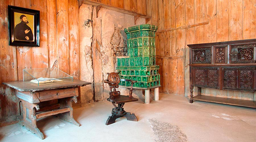 A table and an oven still remain in Luther's chamber in Eisenach